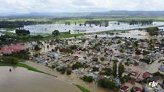 Aerial Footage of Edgecumbe Flooding - Video