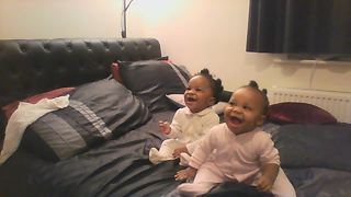 Twin Baby Girls Love Their Mom's Singing - Video