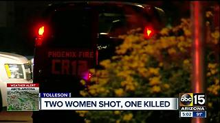 Two woman shot in Tolleson, one dead - Video