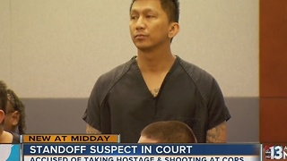 Standoff suspect appears in court - Video