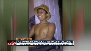 17-year-old paralyzed boy killed in shooting - Video