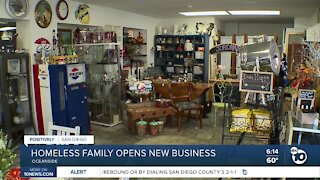 Homeless family opens new business