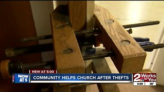 Community helps church after thefts