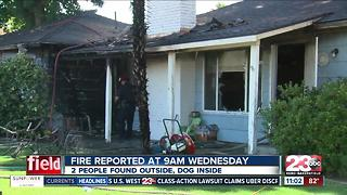Dog rescued during house fire in Southwest Bakersfield - Video