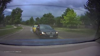 Hit and run accident captured on dash cam - Video