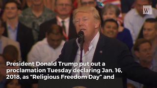 President Trump Issues a Proclamation That Proves He Knows Where Freedom Comes From