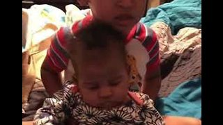 Brother Freaks Out Over Baby Sister's Farts - Video