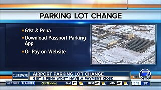 61st & Pena parking lot going to app payment system