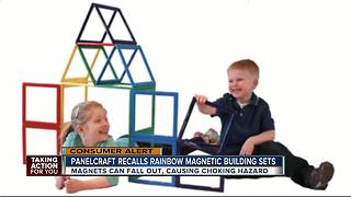 Panelcraft recalls children's building sets due to choking hazard - Video