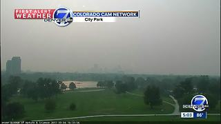 Haze in Colorado attributed to wildfires burning in California, Oregon, Montana - Video