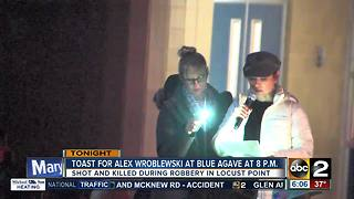 Toast for Alex Wroblewski at Blue Agave - Video
