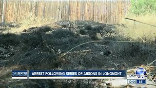 Arrest made in string of grass fires set along Longmont trail - Video