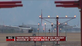 Travelers preparing for busy holiday season at Detroit Metro Airport