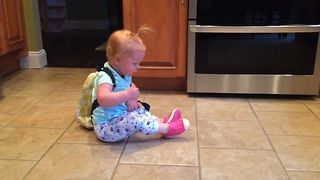 Cute Toddler Feels The Monday Struggle - Video
