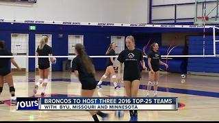 Broncos reveal their 2017 Volleyball schedule - Video