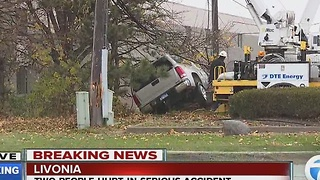 People hurt in Livonia accident - Video
