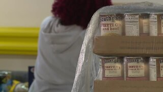 Anne Arundel County Food Bank presented donation checks on Wednesday