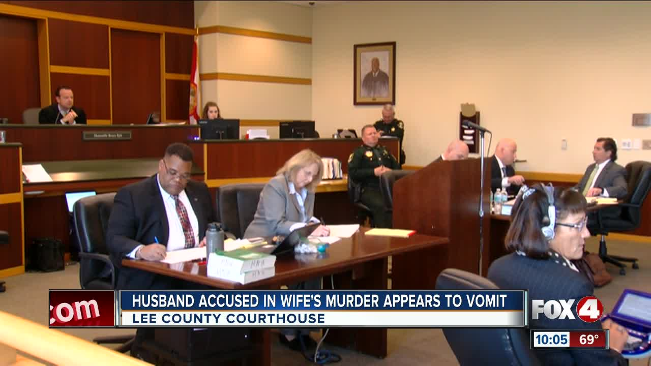 Husband Accused In Wife's Murder Vomits In Court