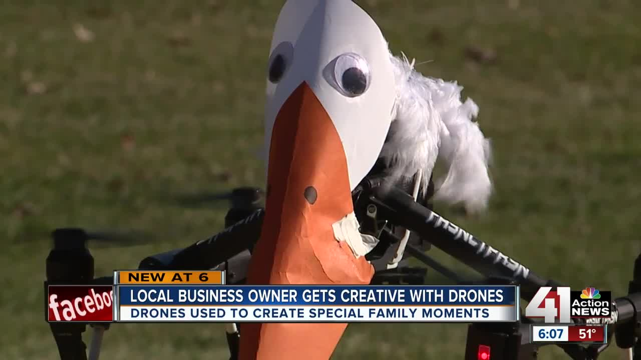 Local business owner getting creative with drones