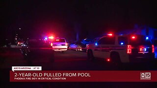 2-year-old boy pulled from backyard pool in Phoenix