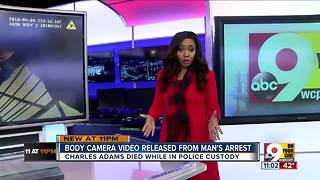 Body camera video released after man dies in custody - Video