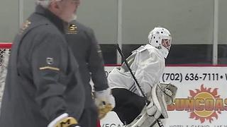 Goldne Knights practice rink getting ice - Video