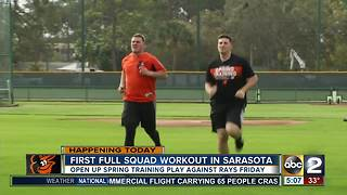 Orioles have first full workout in Sarasota - Video