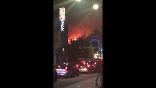 Further footage of the Camden Lock Market fire - Video