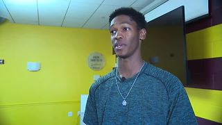 Indians prospect Triston McKenzie visits with the Cleveland Boys and Girls Club - Video