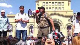 Armenian Opposition Leader Takes Marchers Through Capital as Election Date Announced - Video