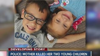 Community mourns the loss of two young children police say were killed by their mother - Video