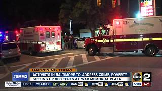Protest on Baltimore crime and poverty - Video