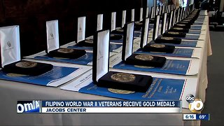 Filipino World War II veterans honored