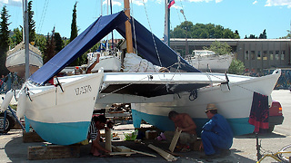 Building Sailing Catamaran  - Video