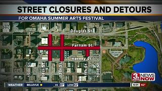 Summer Arts Festival begins, causes closures - Video