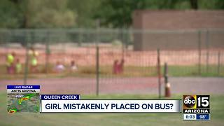 Valley parents outraged after daughter placed on school bus