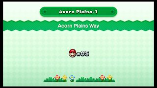 New Super Mario U Deluxe - Acorn Plains-1 Acorn Plains Way (All Star Coins)