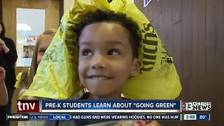 Preschoolers learn about going green with fashion show - Video