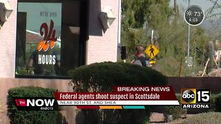 Federal agents shoot suspect in Scottsdale - Video
