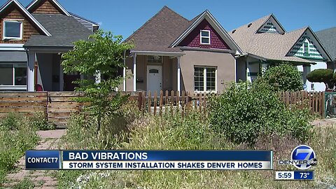 Denver halts storm water work causing violent vibrations for homeowners in Cole neighborhood