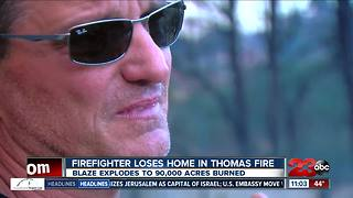 Ventura County Fire Captain his home in Thomas Fire - Video