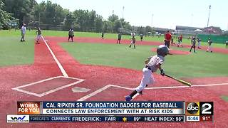 Badges for Baseball connecting cops and kids - Video