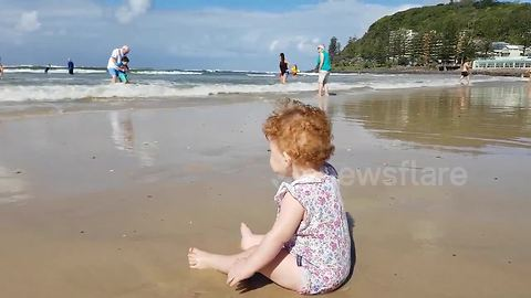 One-year-old girl knocked down by wave on Gold Coast