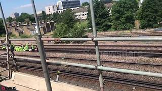 Three struck by train in south London - Video