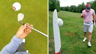 TRICK SHOT TIGER WOODS: THESE GOLF TRICK SHOTS ARE ALMOST IMPOSSIBLE TO PULL OFF