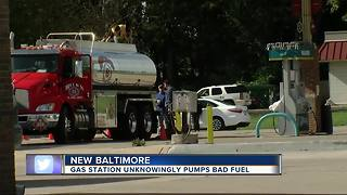 New Baltimore gas station unknowingly pumps bad gas - Video