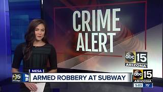 Police looking for man who robbed Subway in Mesa - Video