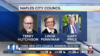 Three new city council members elected in Naples