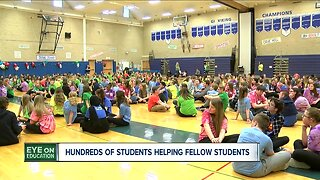Hundreds of Middle School helping other middle schoolers