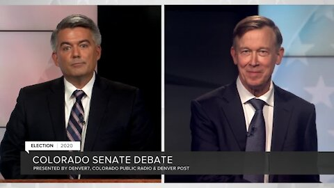 Sen. Cory Gardner, John Hickenlooper square off in U.S. Senate debate